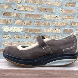 MBT Shoes - MBT Kaya Brown Mary Jane 10.5 Suede Roll Style